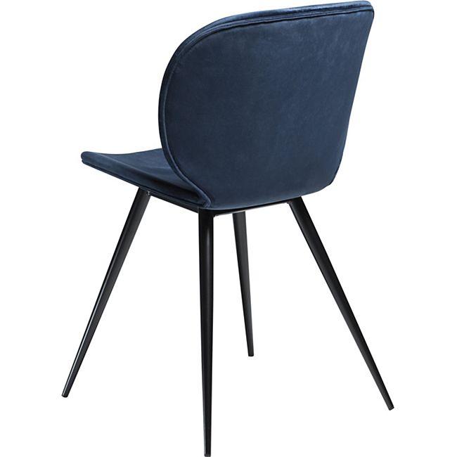 2x Design Esszimmerstuhl Cloud Velours Küche Stuhl Stühle Set Esszimmer blau - Bild 1