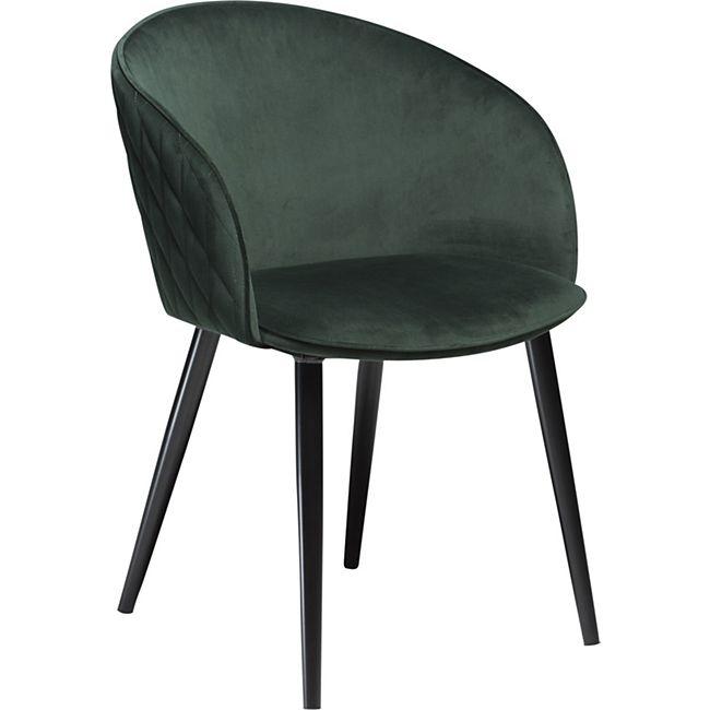 2x Design Esszimmerstuhl Duual Velours Küche Stuhl Stühle Set Esszimmer grün - Bild 1