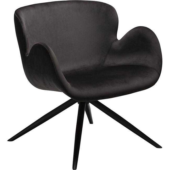 Loungestuhl Gaia Clubsessel Lounge Sessel Stuhl Relaxsessel Velours schwarz - Bild 1