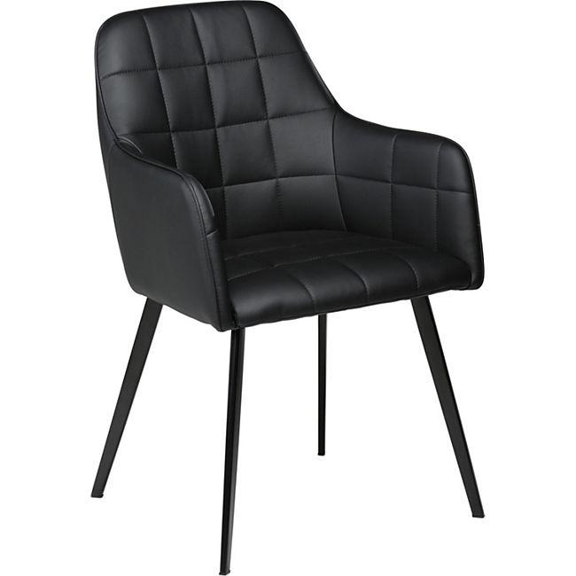 Esszimmerstuhl Embrance Kunstleder Küchenstuhl Stuhl Esszimmer Küche schwarz - Bild 1
