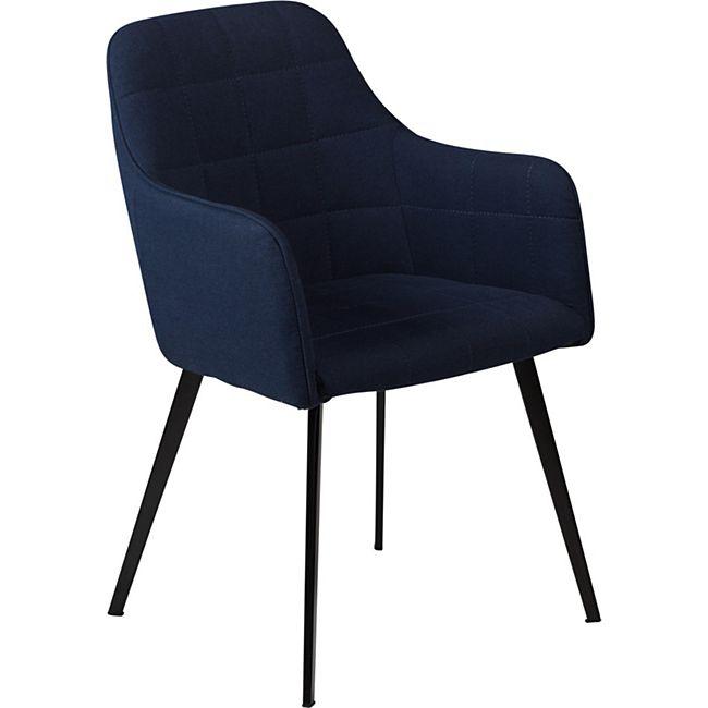 Esszimmerstuhl Embrance Velours Küchenstuhl Stuhl Esszimmer Küche blau - Bild 1