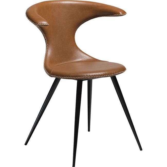 2x Esszimmerstuhl Kunstleder Küchenstuhl Stuhl Stühle Set Esszimmer Küche braun - Bild 1