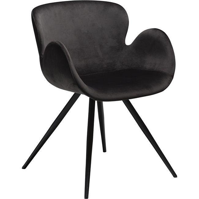 2x Design Velours Esszimmerstuhl Gaia  Küche Stuhl Stühle Set Esszimmer schwarz - Bild 1