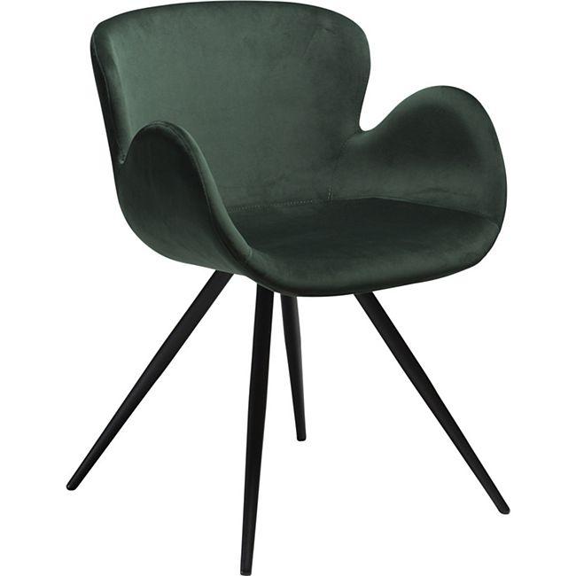 2x Design Velours Esszimmerstuhl Gaia  Küche Stuhl Stühle Set Esszimmer grün - Bild 1