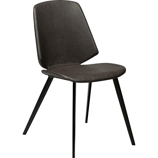 2x Esszimmerstuhl Kunstleder Küchenstuhl Stuhl Stühle Set Esszimmer Küche grau - Bild 1