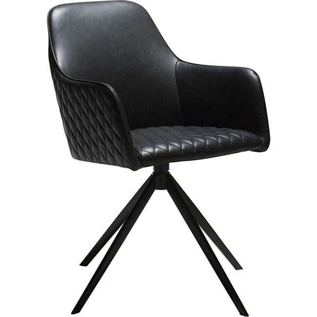Esszimmerstuhl Kunstleder Esszimmer Küche Stuhl Sessel Polsterstuhl schwarz - Bild 1
