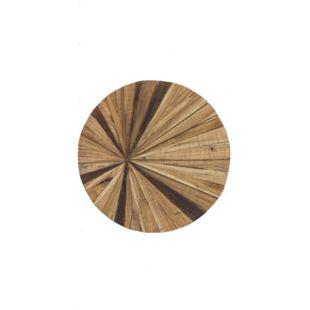 Holz Wandbild 70cm Bild Relief Wanddeko Massivholz Deko Natu rund Dekoration - Bild 1