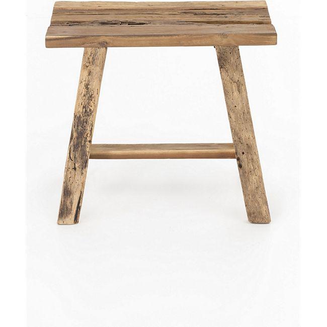 Hocker Woodmix Holzhocker Sitzhocker massiv Holz Sitzbank Fußhocker Schemel - Bild 1