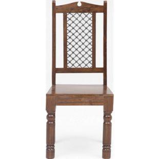 Design Essszimmerstuhl Akazie massiv Handarbeit Holzstuhl Küchenstuhl Holz Stuhl - Bild 1