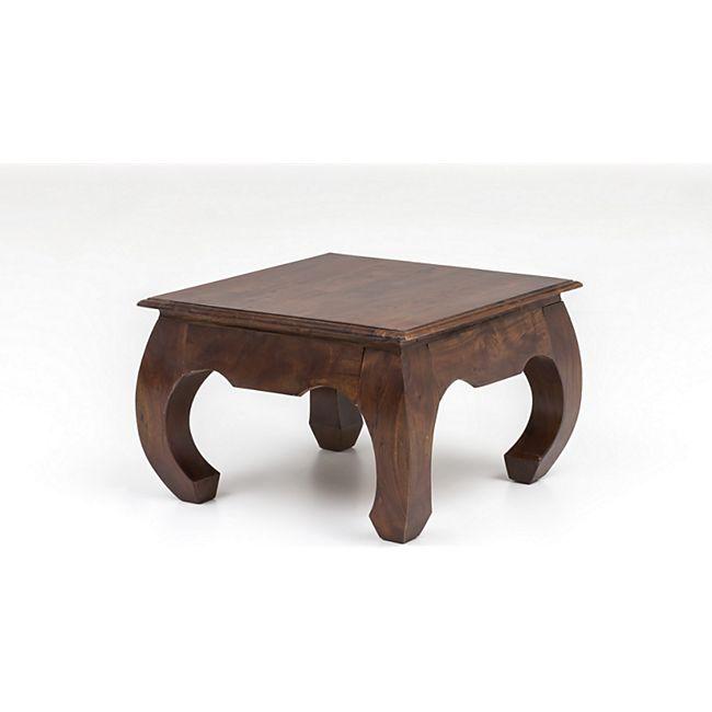 Unikat Couchtisch Massivholz Akazie 60cm Wohnzimmertisch Holz Tisch Handarbeit - Bild 1