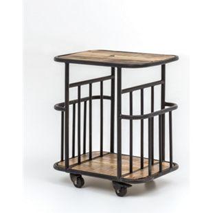 Servierwagen Industrial Design Holz Metall Küchenwagen Industriemöbel Rollwagen - Bild 1