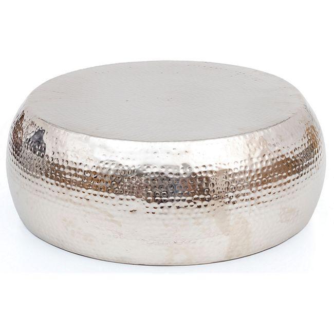 Design Couchtisch Alu Hammerschlag Wohnzimmertisch Beistelltisch Tisch silber - Bild 1