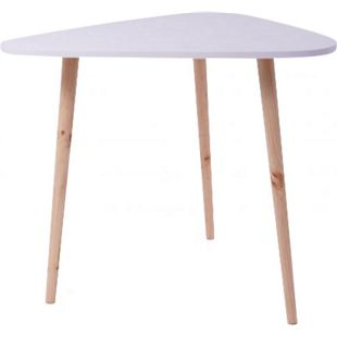 Landhaus Beistelltisch Couchtisch Kaffeetisch Wohnzimmer Tisch Ablage Holz weiß - Bild 1