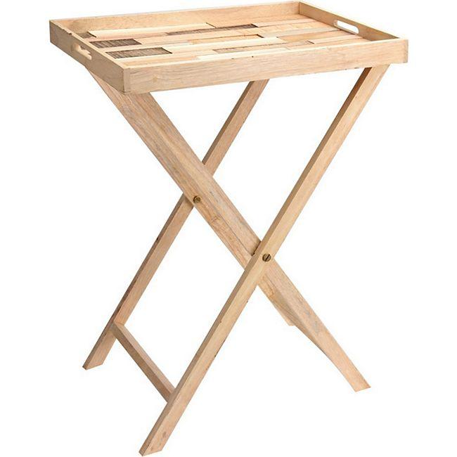Holz Tabletttisch Beistelltisch Tablett Tisch Klapptisch Stehtisch Serviertisch - Bild 1