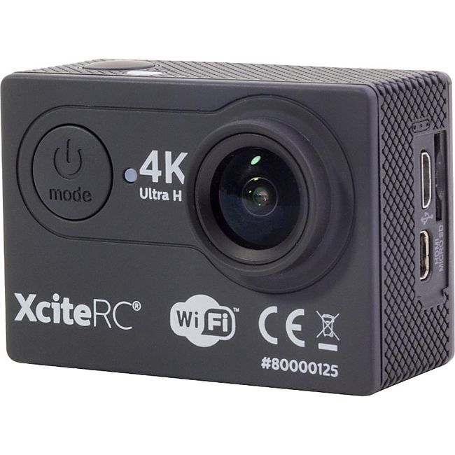 XciteRC WiFi 4K Action Cam UHD 24MP schwarz Sport Kamera - Bild 1