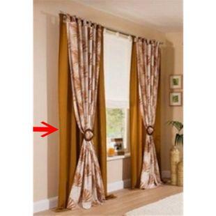 2x Fertigdeko Vorhang 135x225cm mit Schlaufen in Kupfer - Bild 1