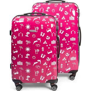 MasterGear Kofferset 2er Set Koffer Trolley Reisekoffer Hartschale pink - Bild 1
