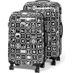 MasterGear Kofferset 2er Set Koffer Trolley Reisekoffer Hartschale schwarz - Bild 1
