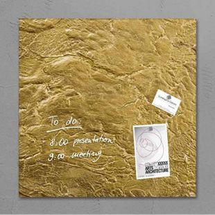 Sigel artverum Glas Magnetboard GL262 Magnetwand Magnet Tafel Whiteboard gold - Bild 1