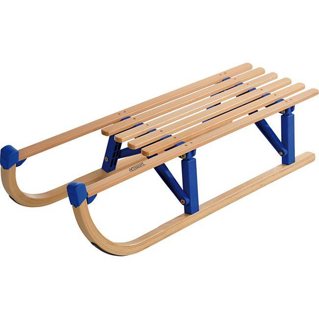 Davos Klappschlitten Faltschlitten Holzschlitten 110cm Rodel Holz Schlitten - Bild 1