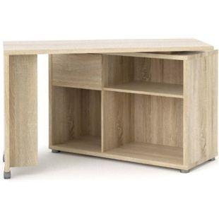 Schreibtisch Fula Eiche Struktur Dekor Bürotisch Computertisch Arbeitstisch - Bild 1
