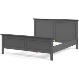 Doppelbett Venedig 180x200 cm matt grau Ehebett Schlafzimmer Bett Bettgestell - Bild 1