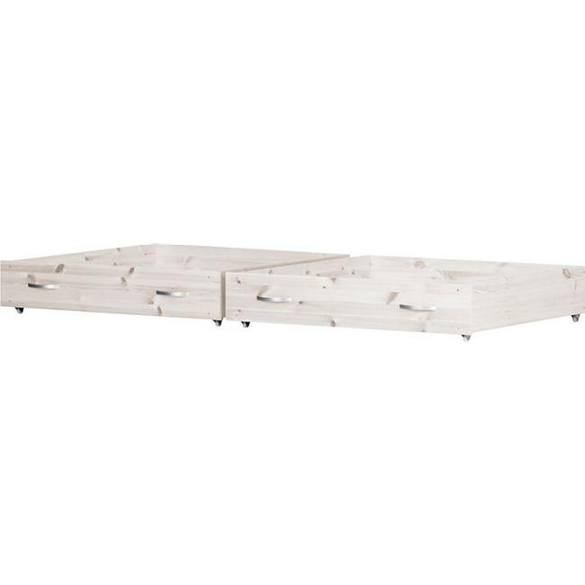 2 Schubladen für Flexa Kinderbett Schubladenbett Kojenbett Einzelbett weiß - Bild 1