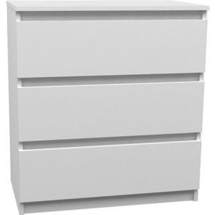 Kommode weiß 3 Schubladen Schrank Sideboard Highboard Mehrzweckschrank - Bild 1
