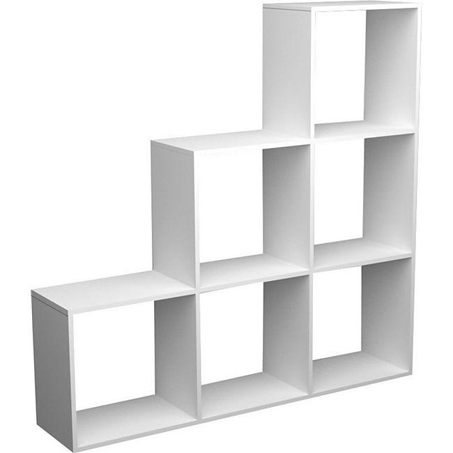 Treppenregal Raumteiler Stufenregal Bücherregal Standregal Würfel Regal - Bild 1