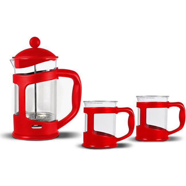 Bialetti Kaffeebereiter Set French Press Espressokocher Kaffee Teebereiter Kanne - Bild 1
