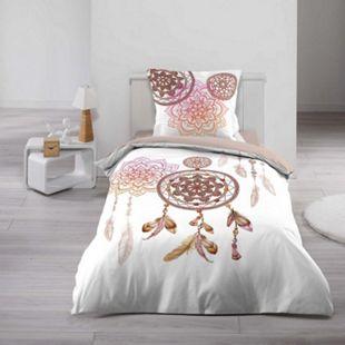 2tlg Wende Bettwäsche 140x200 Traumfänger Baumwolle Bettdecke Bettbezug - Bild 1