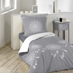 2tlg. Wende Bettwäsche 140x200 Traumfänger Baumwolle Bett Decke Bettgarnitur - Bild 1