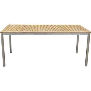 Teak Garten Tisch 180cm Gartentisch Holztisch Holz Edelstahl massiv Terrasse - Bild 1