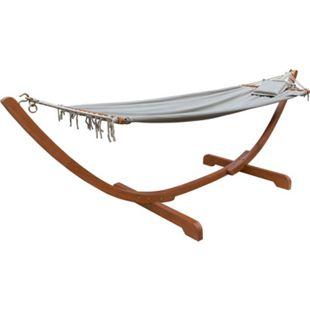 Hängematte Madeira 300x100cm Matten Hängestuhl Camping Schaukelliege Hängeliege - Bild 1