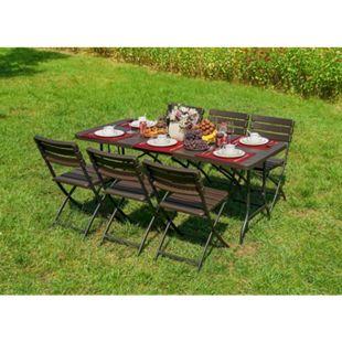 6tlg. Tischgruppe Gartenmöbel Gartentisch Stuhl Garten Sessel Gartensessel Tisch - Bild 1