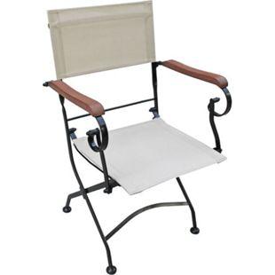 5tlg. Holz Tischgruppe Gartenmöbel Gartentisch Stuhl Garten Klappstuhl Tisch - Bild 1