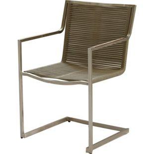 5tlg Tischgruppe Gartenmöbel Gartentisch Stuhl Garten Freischwinger Sessel Tisch - Bild 1