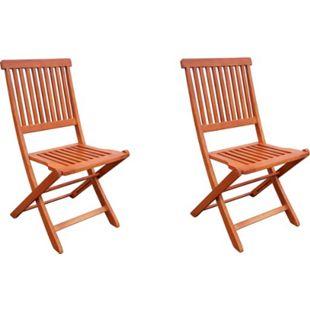 2x Hochlehner Gartenstuhl Gartenstühle Klappstuhl Klappstühle Holz Eukalyptus - Bild 1