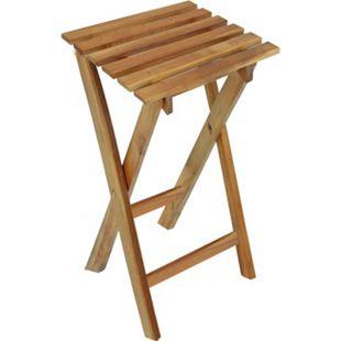 2x Hocker Eukalyptus Klapphocker FSC Holz Gartenhocker Garten Beistelltisch Holz - Bild 1