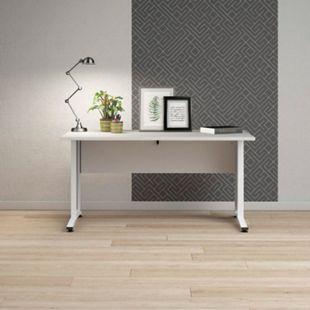 Schreibtisch Prisme weiss Dekor Arbeitstisch Computertisch Bürotisch PC Tisch - Bild 1