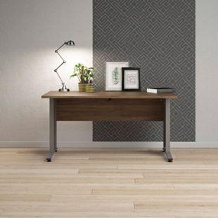 Schreibtisch Prisme Walnuss Dekor Arbeitstisch Computertisch Bürotisch PC Tisch - Bild 1