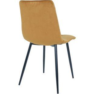 2x Esszimmerstuhl Midde curry gelb Küche Stuhl Set Stühle Sessel Polsterstuhl - Bild 1
