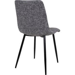 2x Esszimmerstuhl Midde grau Stuhl Set Stühle Sessel Polsterstuhl Küchenstuhl - Bild 1