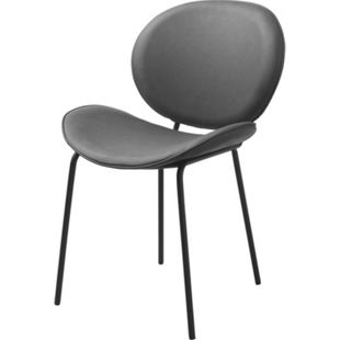 2x Kunstleder Esszimmerstuhl Salut grau Stuhl Set Stühle Stuhl Küchenstuhl - Bild 1