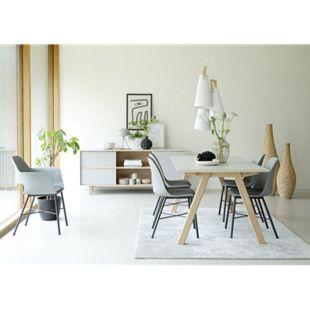 Esstisch Bone 95x180 cm grau Holz Küchentisch Funktionstisch Holztisch Tisch - Bild 1