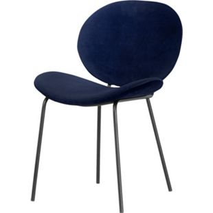 2x Velours Esszimmerstuhl Salut blau Stuhl Set Stühle Stuhl Küchenstuhl - Bild 1