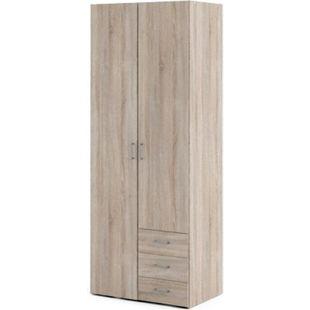Kleiderschrank Spell trüffelfarben 2trg. Schlafzimmer Schubladen Schrank - Bild 1