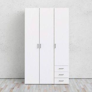 Kleiderschrank Spell weiß 3 Türen Schlafzimmer Schrank Drehtürenschrank - Bild 1