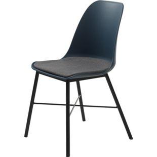 2x Esszimmerstuhl Whise blau Stuhl Set Stühle Sitzgruppe Küchenstuhl Essstuhl - Bild 1