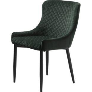 2x Esszimmerstuhl Otis Velours grün Polsterstuhl Wohnzimmer Küche Stuhl Sessel - Bild 1